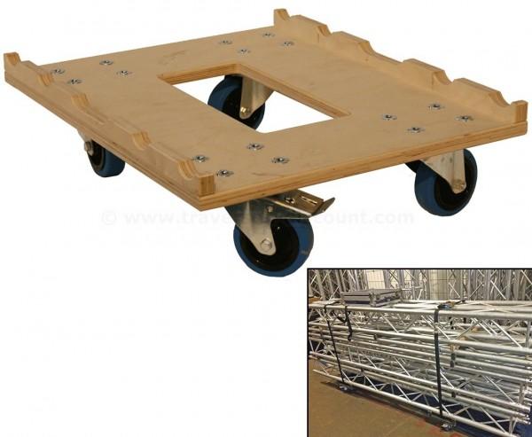 Traversen Dolly, Rollwagen schwarz mit 60x50cm, für T290- 3 und 4Punkt