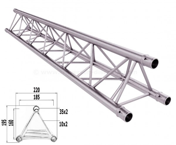 Traversen Decotruss T220-3 mit 150cm, 3 Punkt Alu System Trussing