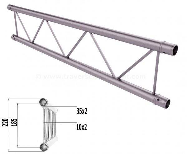 Truss T220-2 mit 100cm, 2 Punkt Alu System Deco Trussing AST