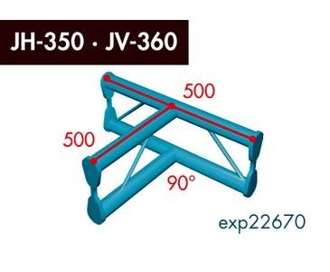 Zweipunkt Traversen X2K-30, 2-Weg T-Stück, Winkel 90°, vertikal