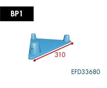 Dreipunkt Traverse X3K-30, BP1 Bodenplatte, male