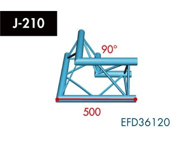 Dreipunkt Traverse X3K-30, 2-Weg Ecke, Winkel 90°
