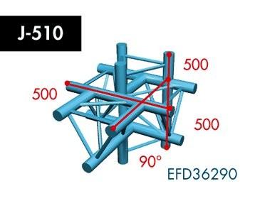 Dreipunkt Traverse X3K-30, 5-Weg T-Stück, Winkel 90°
