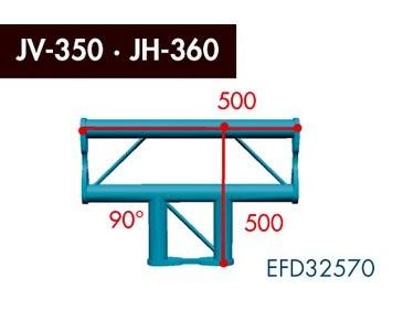 Zweipunkt Traversen X2K-30, 2-Weg T-Stück, Winkel 90°, horizontal