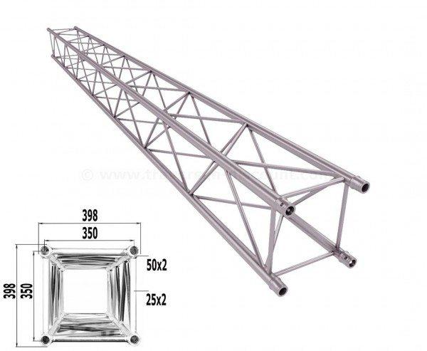 Traverse 4 Punkt Bühnen Truss T400-4 500cm, Alu System Trussing AST