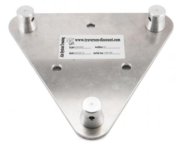 Alu System Trussing T220-3 Wandplatte male mit Lochbohrung