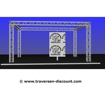 Messebau für München, geschlossene Traversen Form mit 6x4x3m mieten