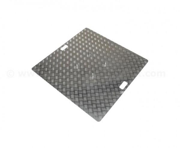 Truss Base Plate Riffelblech Alu natur mit 100x100cm , Materialstärke 0,5 bis 0,65cm, für Traversen