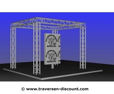 Messe Stand mieten, geschlossene Form mit 4x3x3m, für München