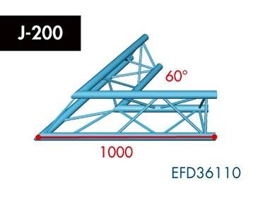 Dreipunkt Traverse X3K-30, 2-Weg Ecke, Winkel 60°