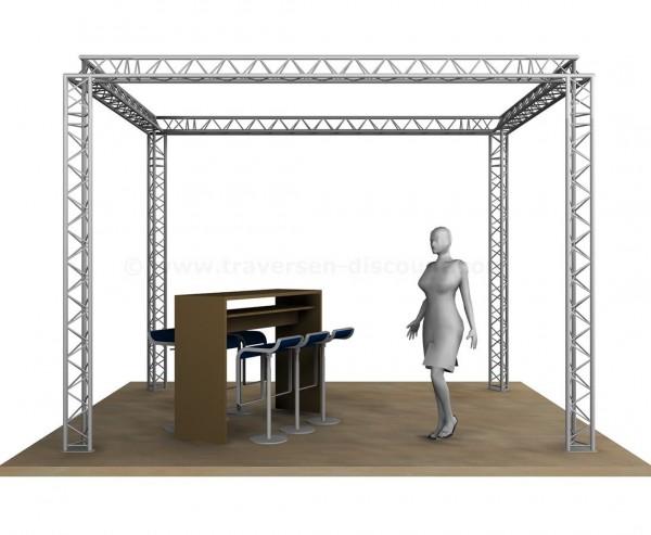 Messestand Design im Viereck mit 4x3x3m, aus 3Punkt Decotruss
