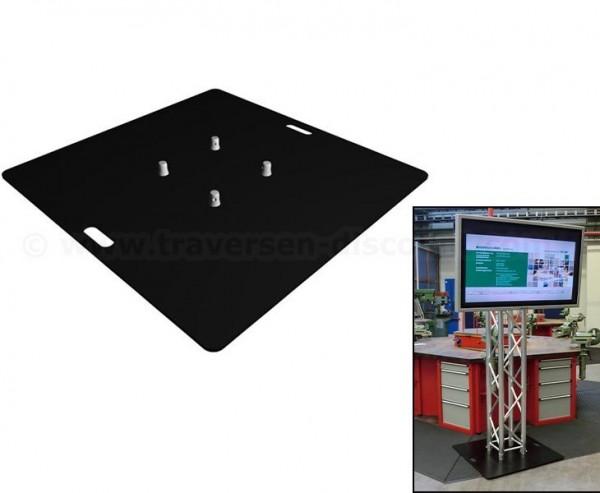 Bodenplatte Stahl schwarz beschichtet mit 100x100x0,8cm, für Truss T290 und T220