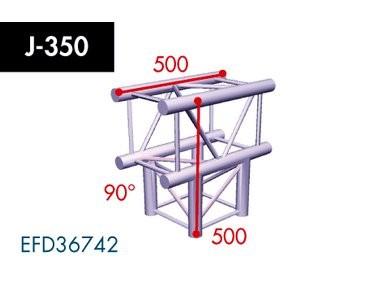 Vierpunkt Traverse X4K-30, 3-Weg T-Stück, Winkel 90°
