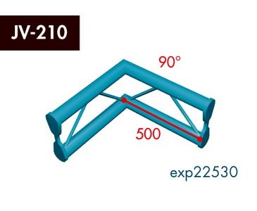 Zweipunkt Traversen X2K-30, 2-Weg Ecke, Winkel 90°, vertikal