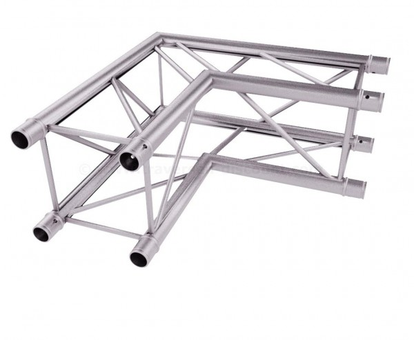 Traversen T220-4 2-Wege Eck 90° C21, Alu System Decotruss AST