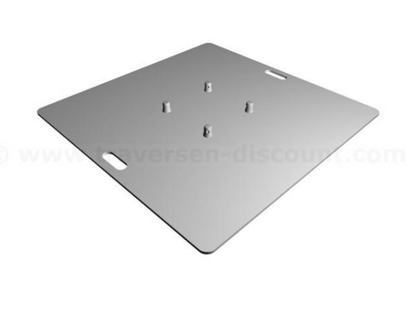 Baseplate für Truss T290 und T220 mit 100x100x0,8cm, aluminium unbehandelt mit 2 Griffmulden