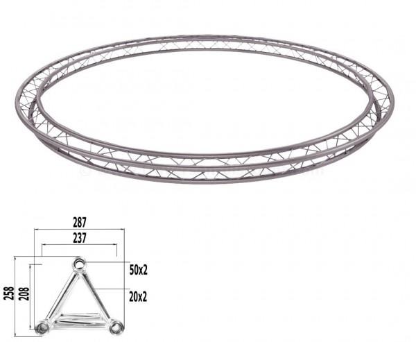 Traversen Kreis aus T290-3 mit einem Durchmesser von 400cm