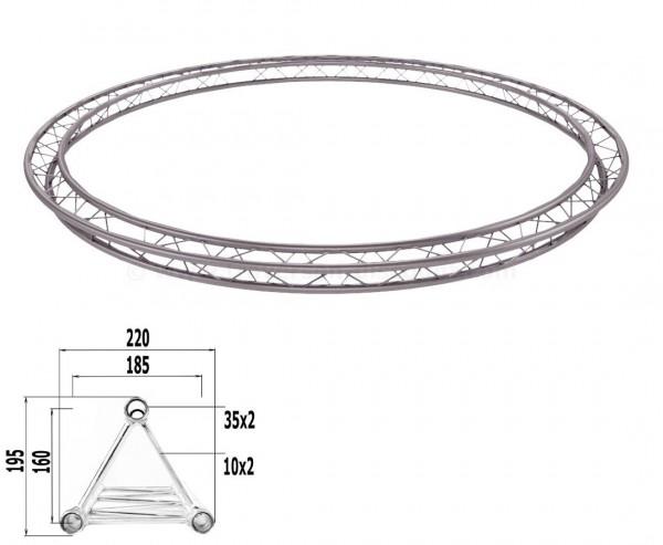 Deco Truss Kreis aus Dreipunktraversen mit einem Durch. von 400cm