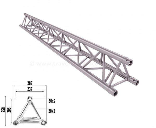 Alu System Trussing 3 Punkt Traverse T290-3 mit 250cm