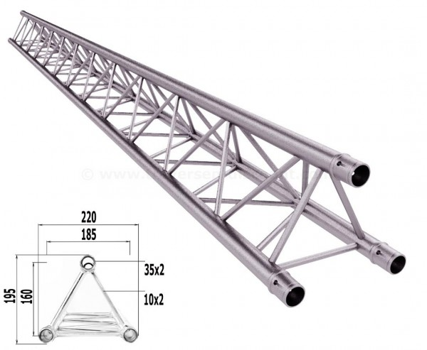 Traversen Decotruss T220-3 mit 300cm, 3 Punkt Alu System Trussing