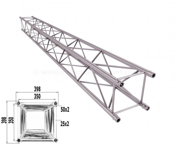Traverse 4 Punkt Bühnen Truss T400-4 450cm, Alu System Trussing AST