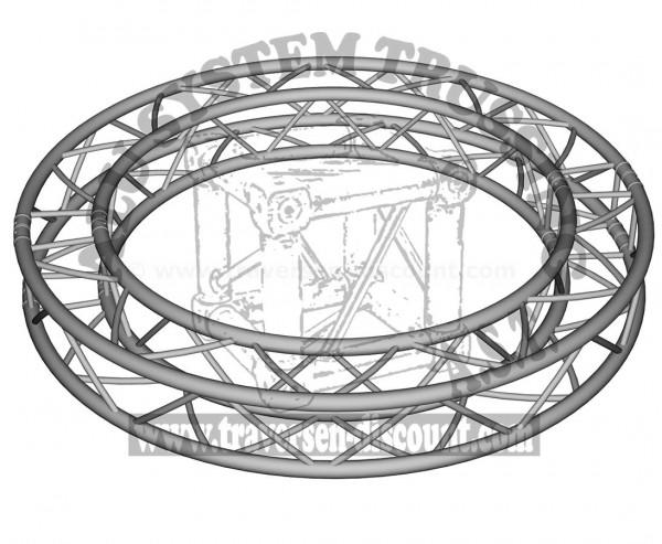 Traversen Kreis aus T290-4 mit einem Durchmesser von 200cm, Alu System Trussing AST